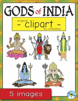 Gods of India Clip Art