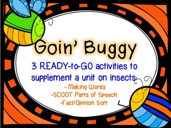 "Goin' Buggy!  - 3 Ready-to-Go ""Bug""/Insect Activities"