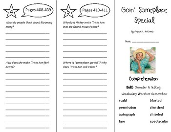 Goin' Someplace Special Trifold - Treasures 5th Grade Unit