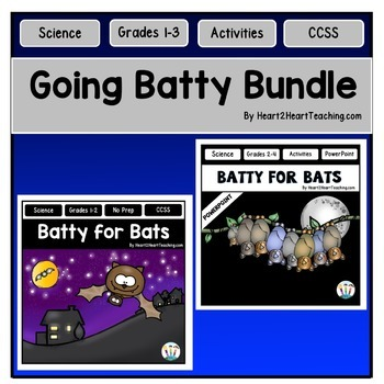 Bats Bundle - Fall Centers with Activities, Flip Book, PowerPoint, & Task Cards