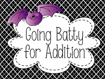 Going Batty For Addition {FREEBIE}