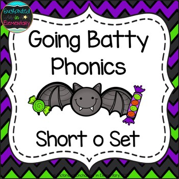 Going Batty Phonics: Short O Pack