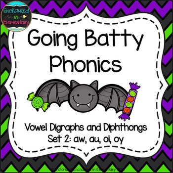 Going Batty Phonics: Vowel Digraphs and Diphthongs Pack 2: