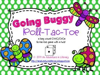CVVC CVCe Long Vowel Spring Tic Tac Toe Games