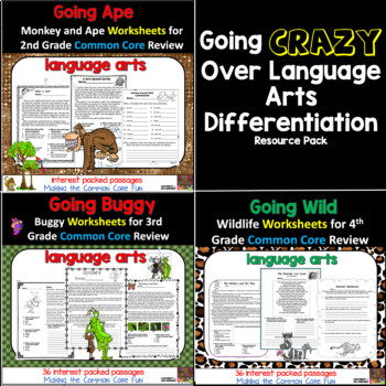 Going Crazy Over Language Arts Differentiation Bundle