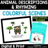Going On A Safari - Language Describing Activity - No Prin