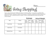 Going Shopping while measuring the weight