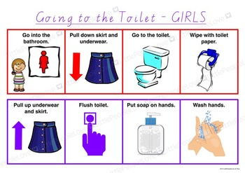 Going To The Toilet (GIRLS) Routine Chart
