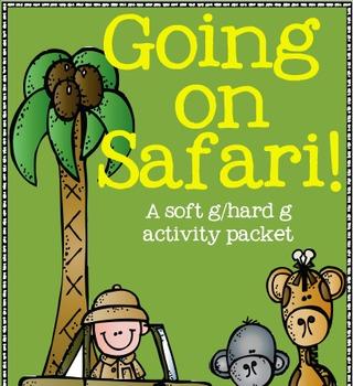 Going on Safari! (a soft g/hard g sound activity pack)