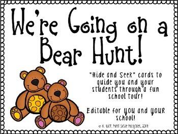 Going on a Bear Hunt - EDITABLE School Tour Cards