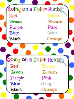 Going on a Color Hunt
