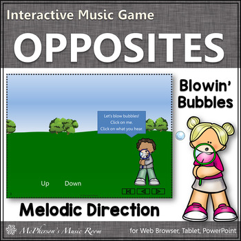 Going up or going down? Interactive Music Game (bubbles)