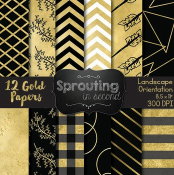 Gold Backgrounds {Digital Papers}