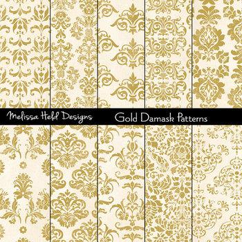 Damask Patterns: Gold