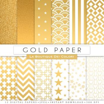 Gold Digital Paper, scrapbook backgrounds
