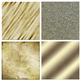 Gold Digital Papers, Golden Metallic Foil Backgrounds, Gol