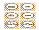 Gold Elegance 2 --- Teacher's Tool Box Labels