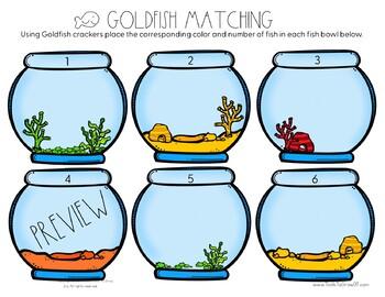 Gold Fish Fine Motor Matching