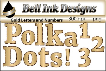 Gold Letters, Numbers, and Punctuation