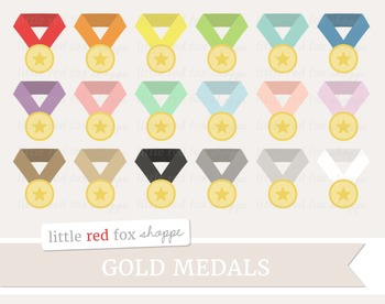 Gold Medal Clipart; Award, Sports