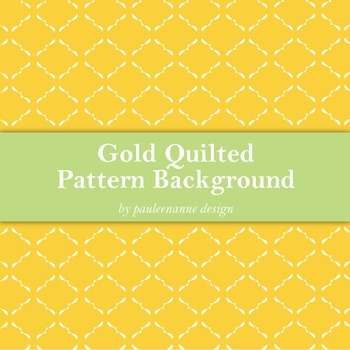Gold Quilted Pattern Background