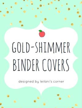 Gold-Shimmer Binder Covers