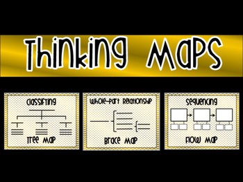 Gold and White Thinking Maps