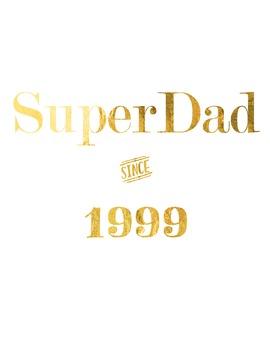 """Gold Foil Printable """"Super Dad"""""""