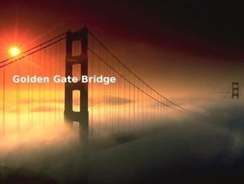 Golden Gate Bridge Power Point - 8 Slides History Facts Pictures