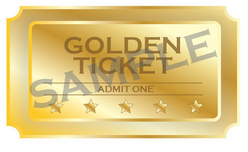 Golden Ticket Clipart