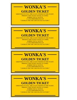 Golden Ticket (editable)