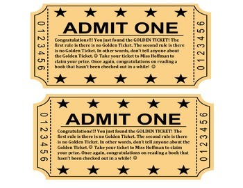 Golden Ticket for Library Books