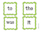The Very First 12 High Frequency Words Pack