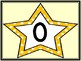 Golden Yellow Dot Star Full Page Number Posters 0-100