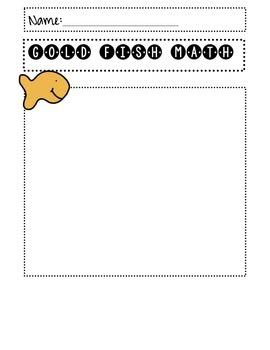 Goldfish Cracker Math