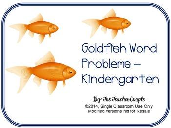Goldfish Word Problems - Kindergarten Common Core