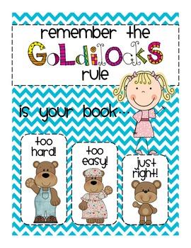 Picking JUST-RIGHT books: Goldilocks Poster