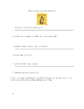 Goldilocks and Just One Bear Questions R.L. 2.1