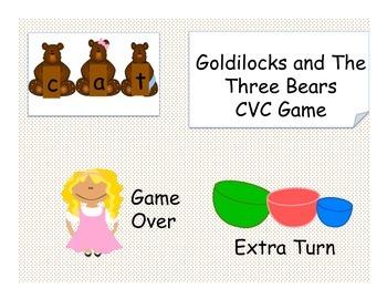 Goldilocks and The Three Bears CVC Game