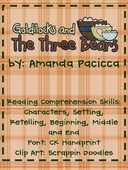 Goldilocks and the 3 Bears Guided Reading Book-Color