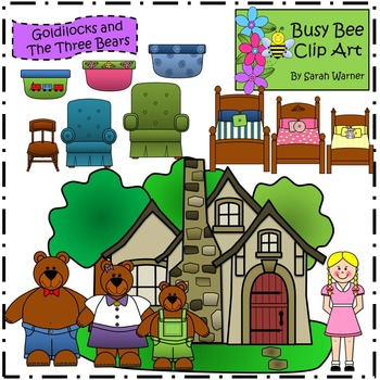 Goldilocks and the Three Bears Clip Art {By Busy Bee Clip Art}