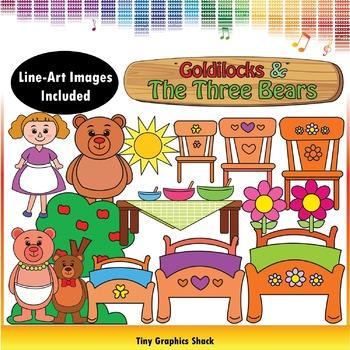 Goldilocks and the Three Bears Clip Art