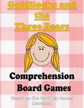 Goldilocks and the Three Bears Comprehension Board Games (