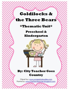 Letter G - Goldilocks and the Three Bears -Fairy Tales- Th