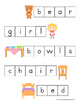 Goldilocks and the Three Bears Letter Tiles Spelling Mat
