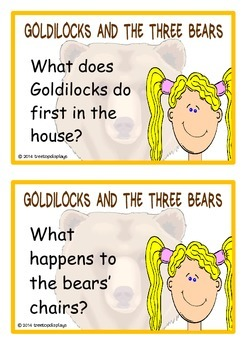 Goldilocks and the Three Bears Reading Prompts