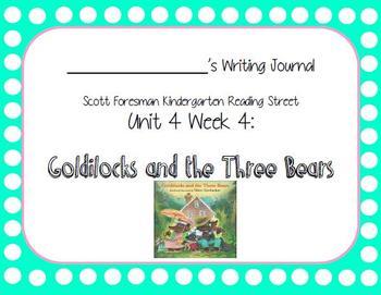 Goldilocks and the Three Bears Writing Journal (Kdg Readin