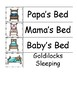 Goldilocks and the Three Bears themed Word Wall preschool