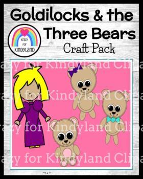 Goldilocks and the Three Little Bears Craft Pack