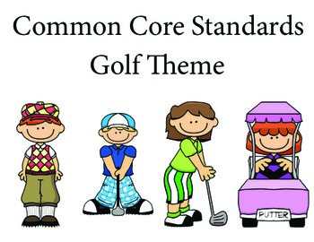 Golf Kindergarten English Common core standards posters